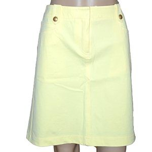 NWT McLaughlin Yellow Stretch Cotton Skirt 8